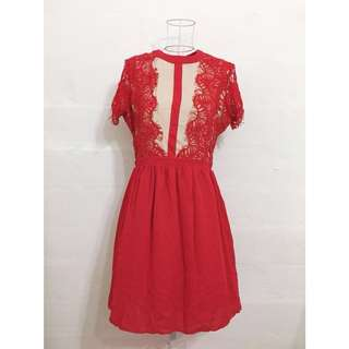 BNWT Red Lace Dress