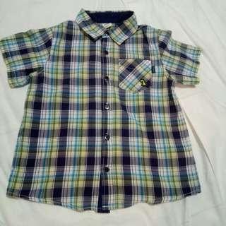 Little B Jeans polo shirt checkered