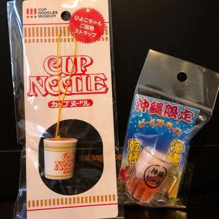 Cup noodles and Okinawa beer accessories x 2
