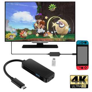 JYS USB-C HDMI 4K HUB Adapter Cable for Nintendo Switch