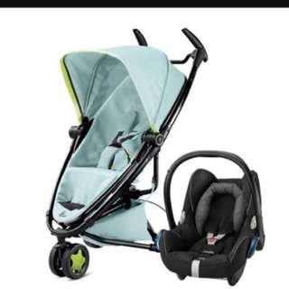 Quinny Zapp Xtra 2.0 and Maxicosi Cabriofix + quinny travel bag