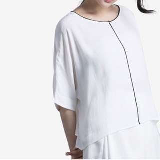 Round Neck Loose Fit Blouse #CNY88