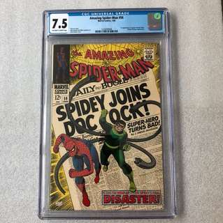 Amazing Spider-Man 56 Cgc 7.5 ( 1st captain George Stacy )