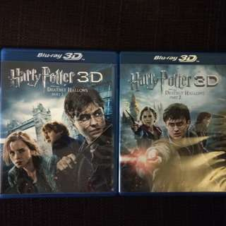 HTF Blu-ray in 2D & 3D - Harry Potter and the Deathly Hallows Part 1 & 2