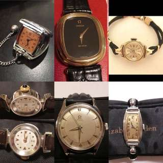 新春優惠,所有古董手錶飾物照價八折或九折,多謝支持!祝賀大家🐶年快樂,恭喜發財