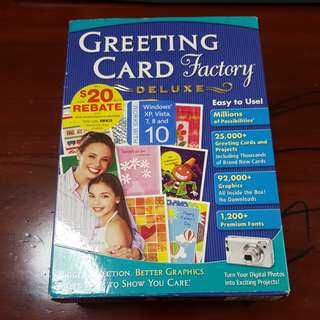 Greeting Card Factory Deluxe version 9.