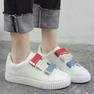 Snap on Sneakers - White