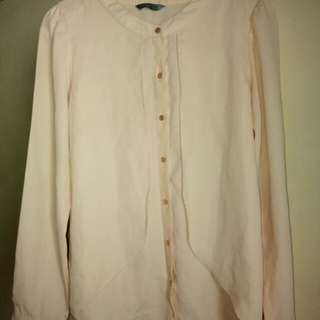 Peach Long-sleeved Shirt