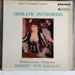Operatic Intermezzi Karajan Columbia SAX 2294