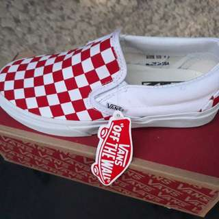 VANS CHECKERBOARD RED/WHITE