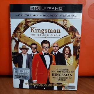 USA Blu Ray Slipcase - Kingsman 2 Golden Circle 4K