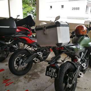 Honda CB150R Box with Rack