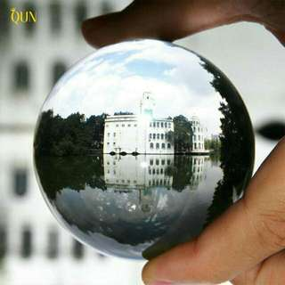 Round Glass Artificial Crystal Healing Ball Home Decoration