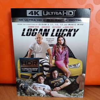 USA Blu Ray Slipcase - Logan Lucky