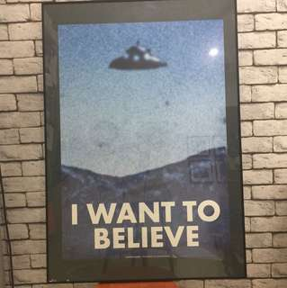 X Files poster - I Want To Believe