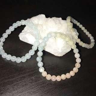 水晶海藍寶摩根石月亮石