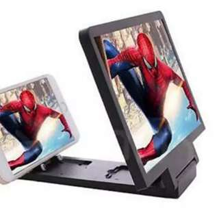 3D enlarged screen for mobile phones