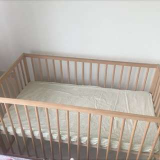 Baby Bed And Mattress