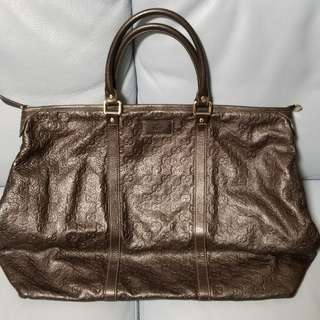Gucci hand bag gucci手袋 旅行 全皮 一口價
