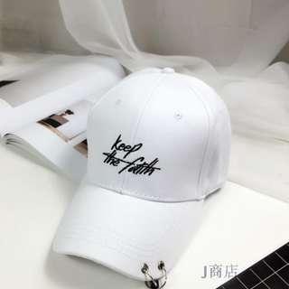 KEEP THE FAITH WHITE CAP (READY STOCK)