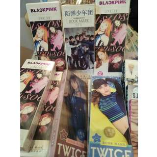 BLACKPINK,BTS,TWICE BOOKMARK BOX