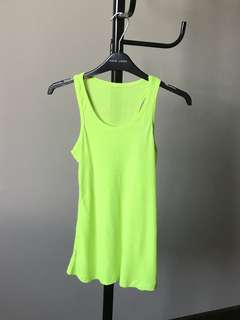 Lime green tanktop for sport