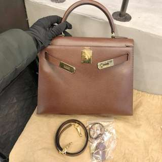 Hermes kelly 28 epsom brown