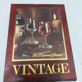vintage 6個ㄧ組 酒杯 紅酒白酒 威士忌 葡萄酒
