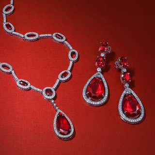 Gatsby Inspired Ruby Necklace(PRE-ORDER)