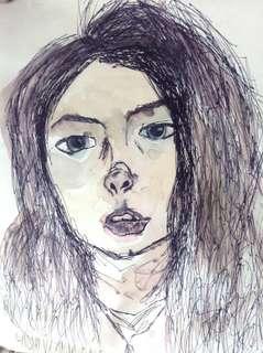 """8 1/2"""" x 11"""" Hayley Elizabeth Adams Artwork"""