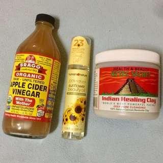 AZTEC HEALING CLAY, ACV & SUNFLOWER OIL SET