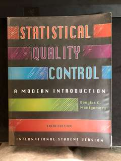 IE2130 Textbook Statistical Quality Control,Quality Engineering