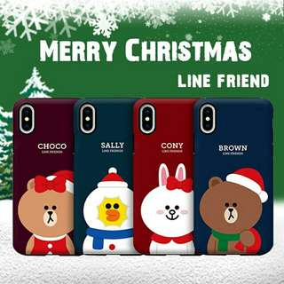 Line Friend Christmas iPhone case