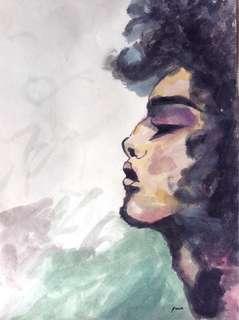 "11.7"" x 16.5"" Afro Artwork"