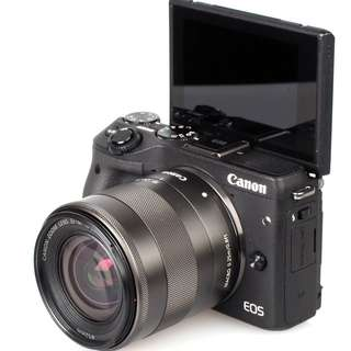 Kredit Dp 10% Canon EOS M3 Kit EF-M 18-55mm - Cicilan tanpa kartu kredit