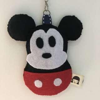 Handmade mickey felt hanging charm