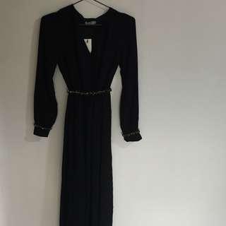 Zalia Black Maxi Dress
