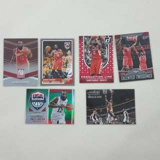 Legit Used James Harden Lot Set Of 18 NBA Cards
