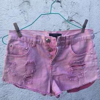 Forever21 Pink Ripped Shorts