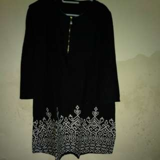 tunik hitam good condition