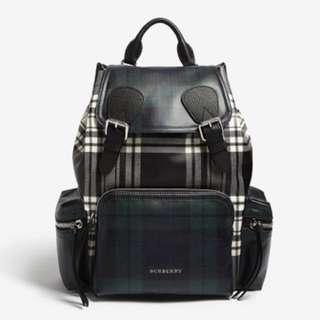 Burberry tartan backpack 黑白格仔背包