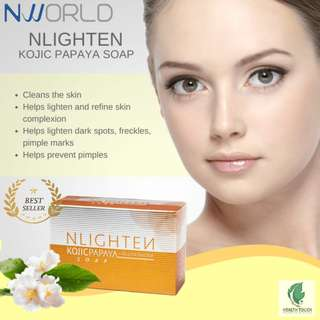 NLIGHTEN Kojic Papaya with Glutathione Bar Soap Net Wt. 135g. - CASH ON DELIVERY!