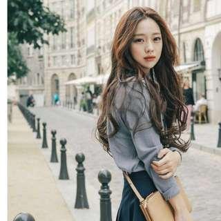 Korean Ulzzang marshmallow mousse curls  full wig