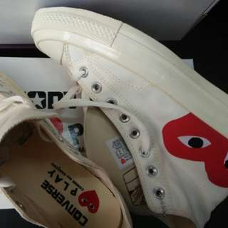 Converse CDG play Of white