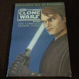 BN HTF DVD Star Wars: The Clone Wars - The Complete Season Three