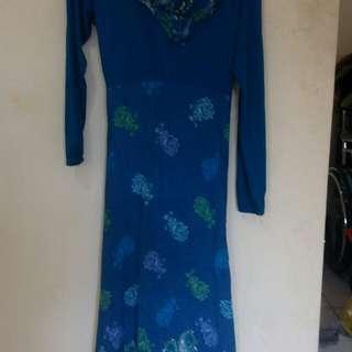Baju Gamis biru