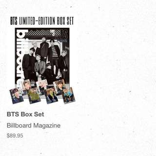 [non-profit sharing 1 ALL TAKEN] bts billboard box set magazines + posters