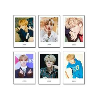 BTS Unofficial Polaroid Style Photocards (Jimin & Taehyung)