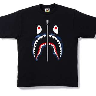 Bape color camo shark tee