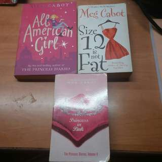 ALL AMERICAN GIRL,SIZE 12 IS NOT FAT &  PRINCESS IN PINK MEG CABOT